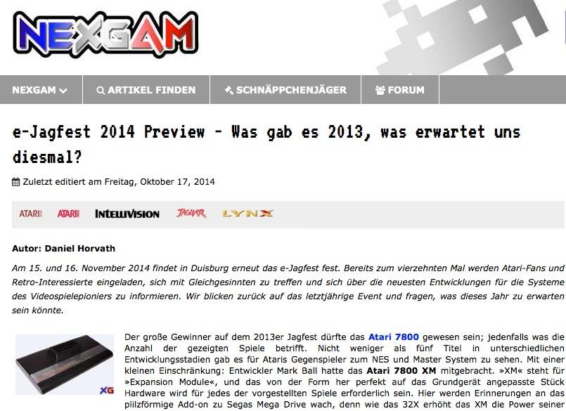Nexgam Special - ejagfest 2013/14