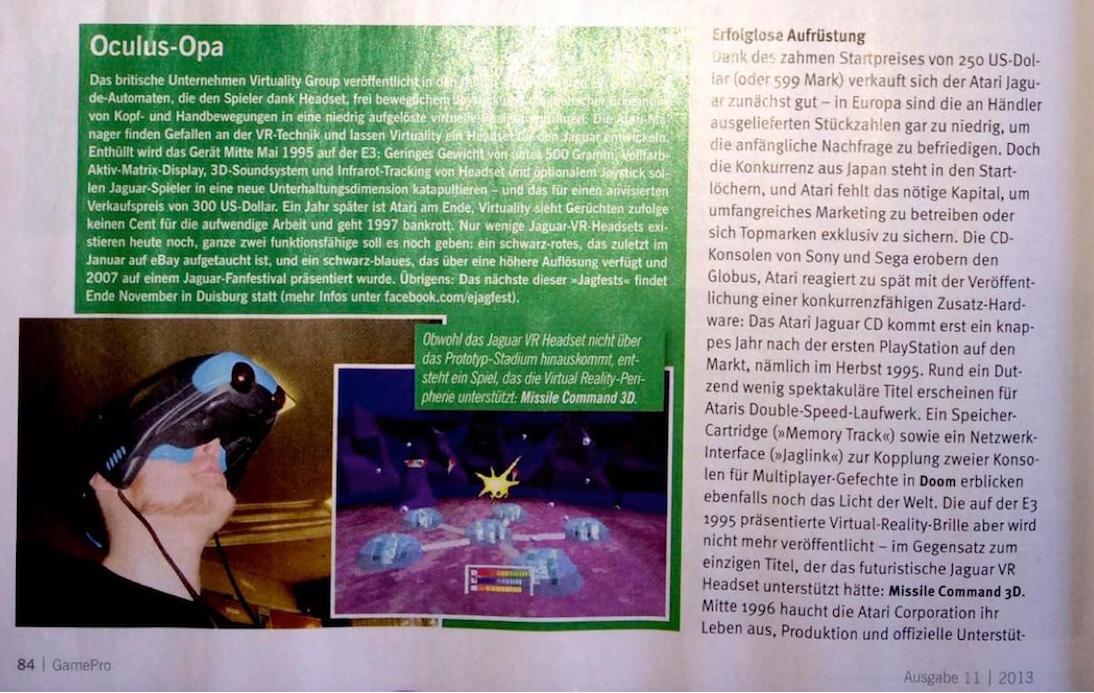 GamePro 11/2013 - Jaguar Artikel