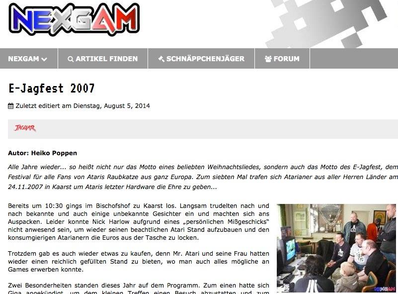 Nexgam Special - ejagfest 2007