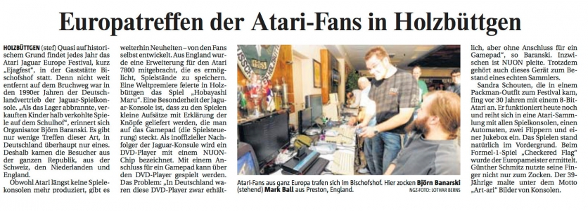 NGZ 23.11.2011 - Artikel ejagfest 2011